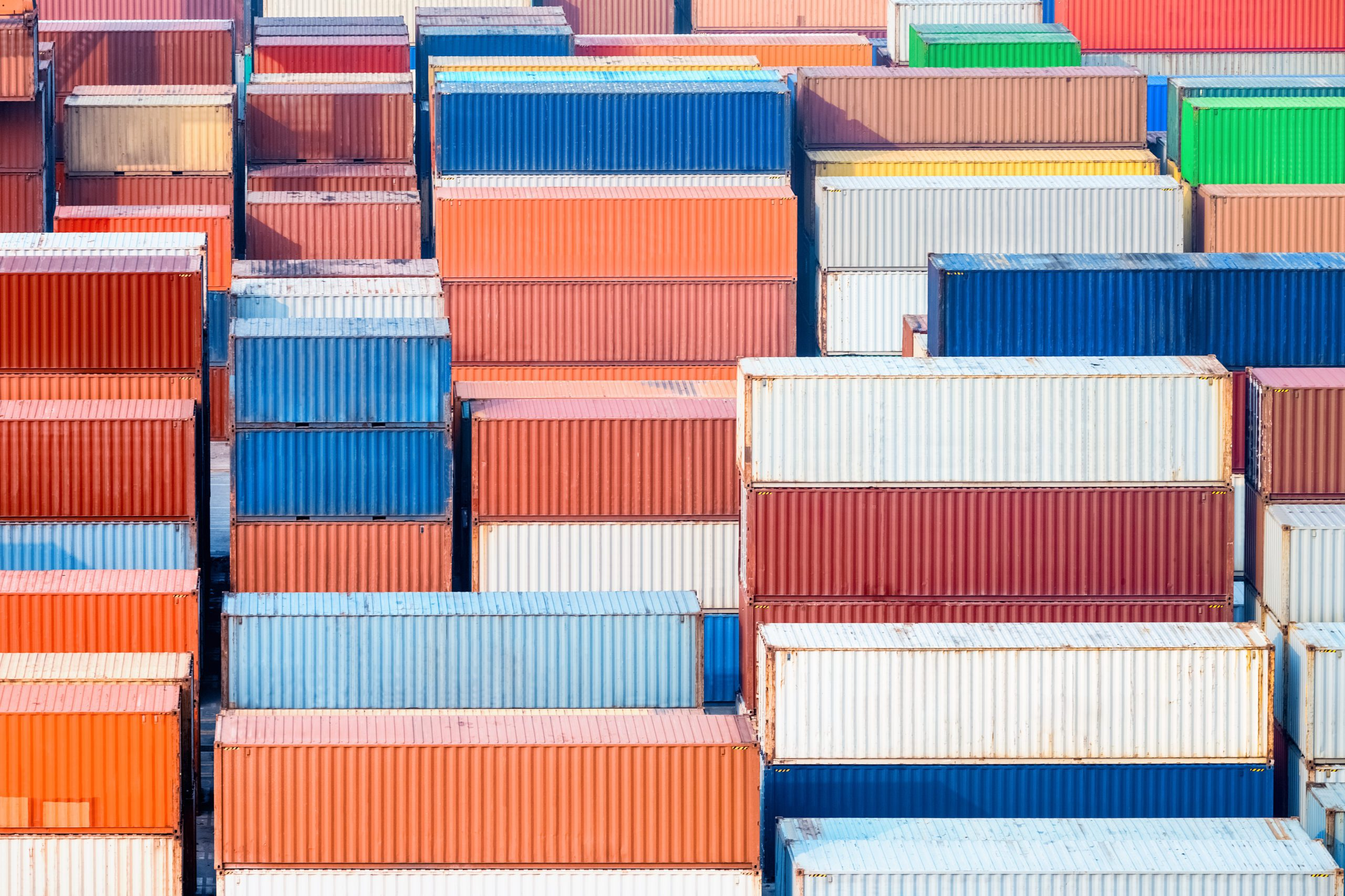 container freight station, modern logistics background